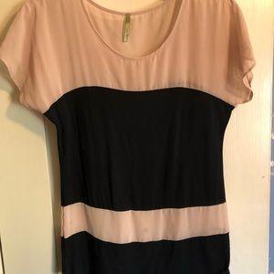 West Kei stripped short sleeved top